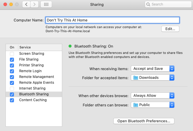 Computer Sharing: Don't Try This At Home!